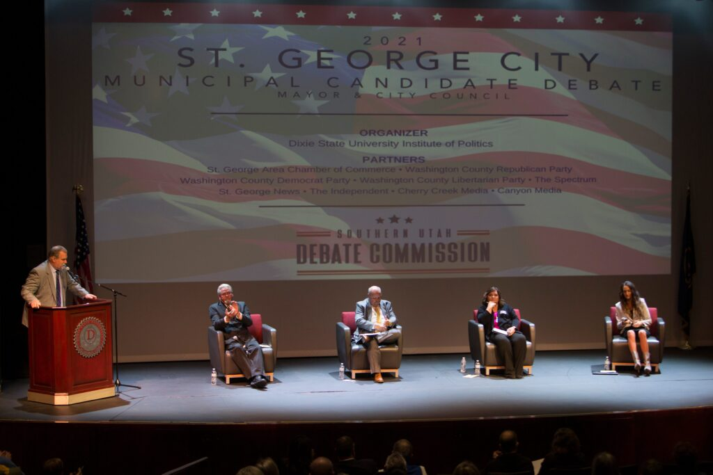 Candidates for St. George mayor, city council debate at Dixie State University
